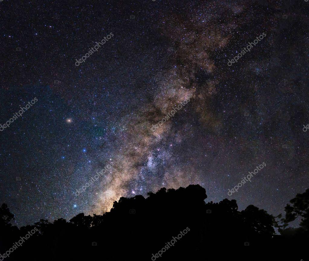 Landscape of Milky way mountain
