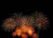 Fotografie Vícebarevná ohňostroj oslava