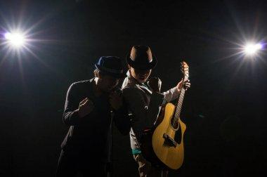 Musician Duo band playing