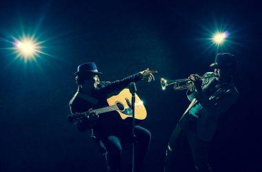 Musician band singing