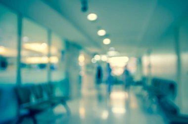 blurred hospital interior