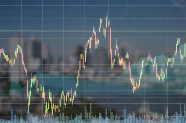 Stock market exchange graph