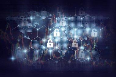 Security key lock icon