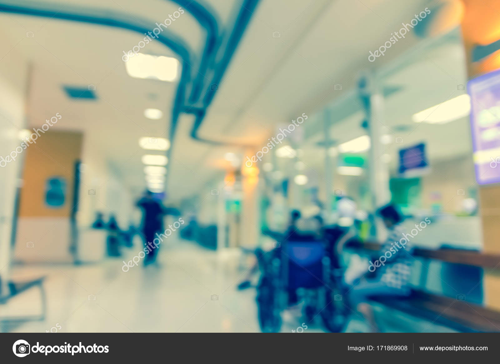 Abstract Foto Wazig Van Ziekenhuis Achtergrond Stockfoto Tzido