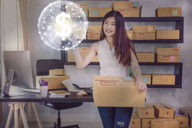 asian  owner business woman