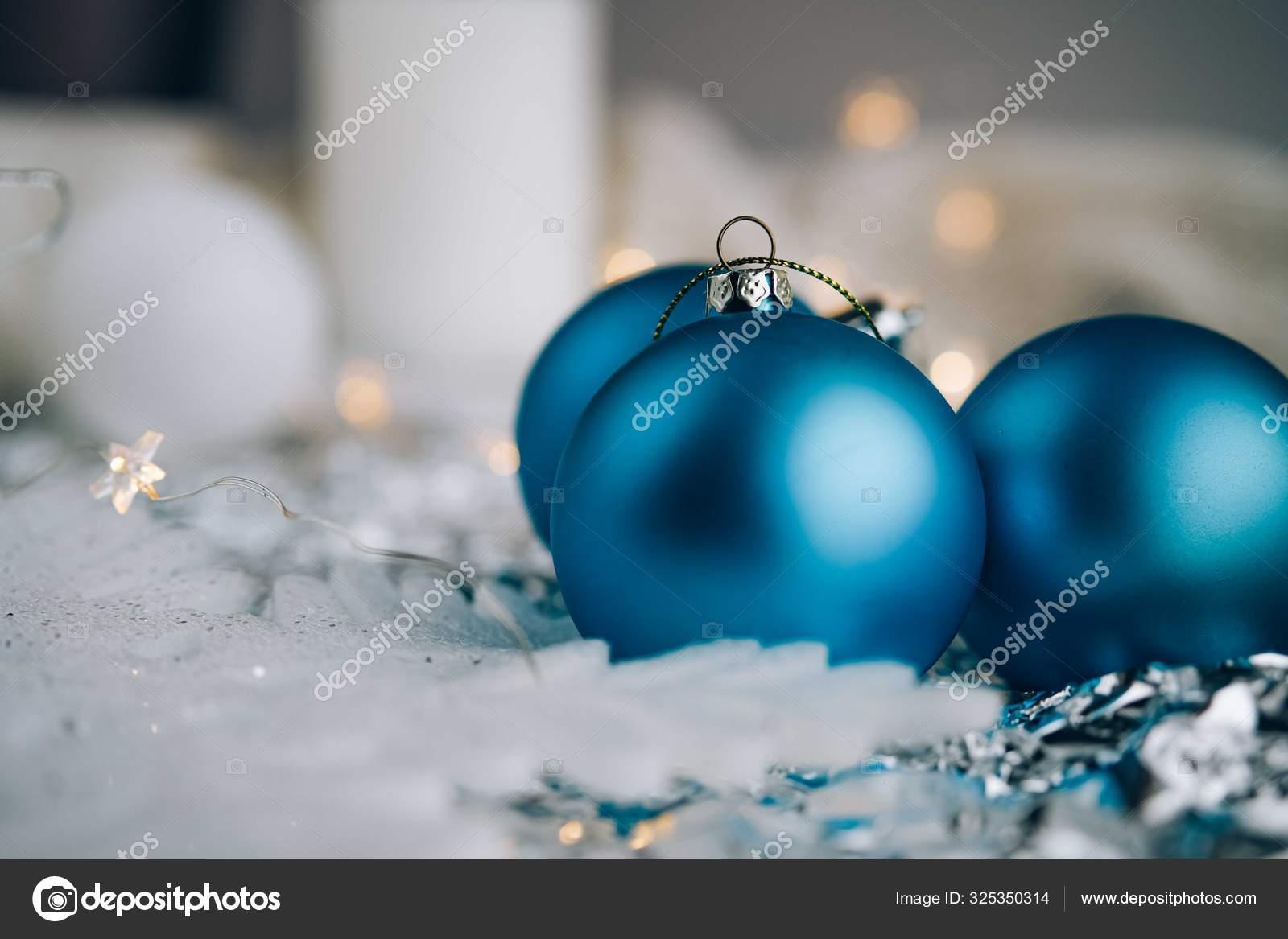 Christmas Blue And White Background Stock Photo C Marinacavus Gmail Com 325350314