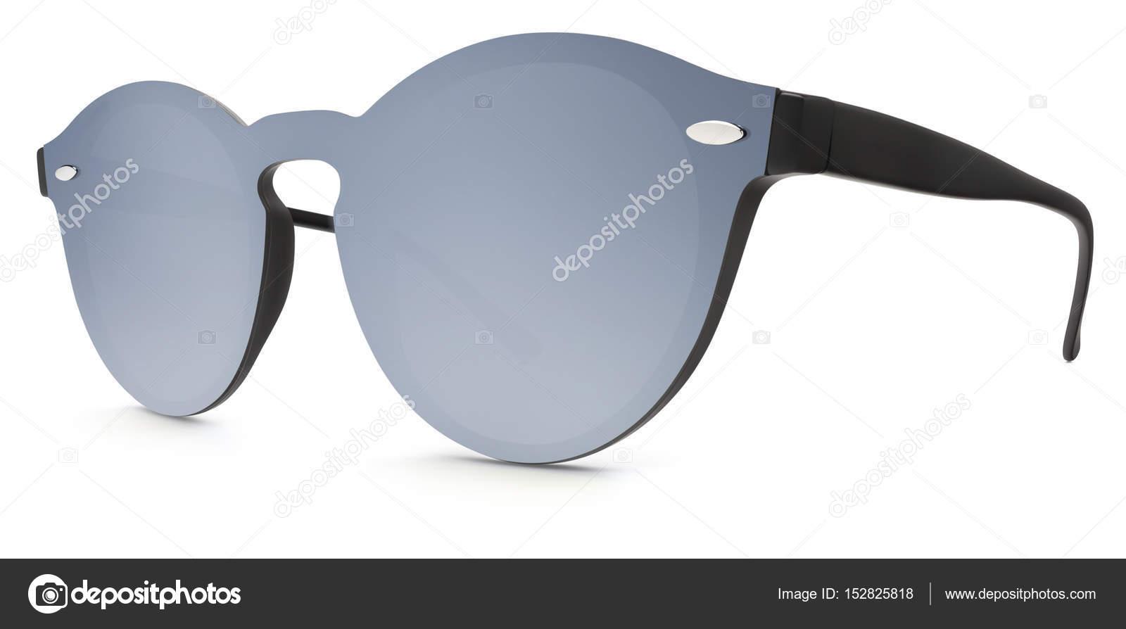 4fb68e8420 Γυαλιά ηλίου γκρι καθρέφτη φακούς που απομονώνονται σε λευκό φόντο– εικόνα  αρχείου
