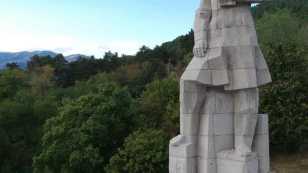 Hristo Botev monument in Kalofer aerial view