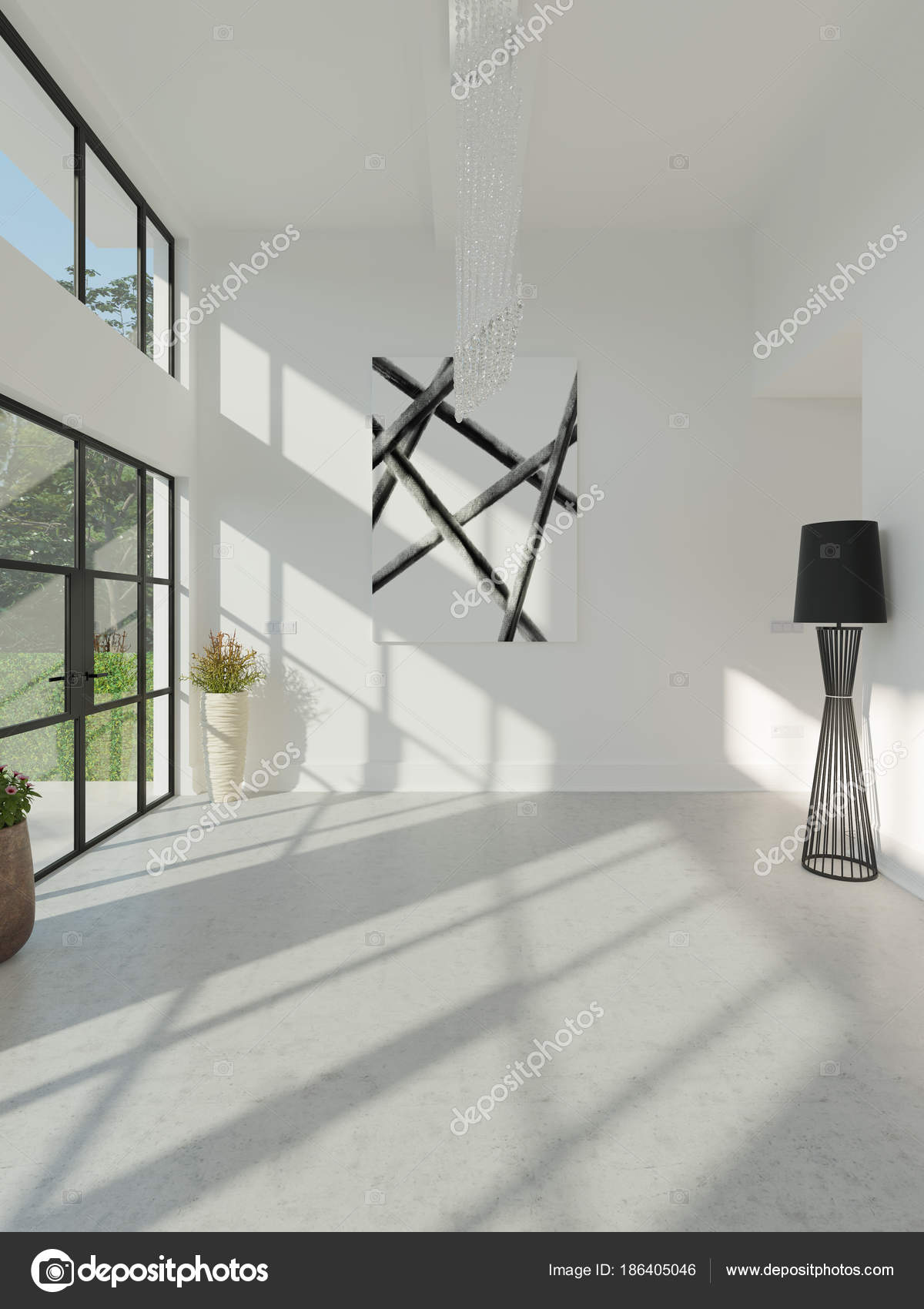 Moderne Leeg Interieur Zonder Meubels — Stockfoto © stanslavov1 ...