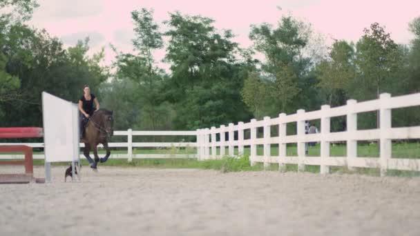 Usmívající se dívka na koni