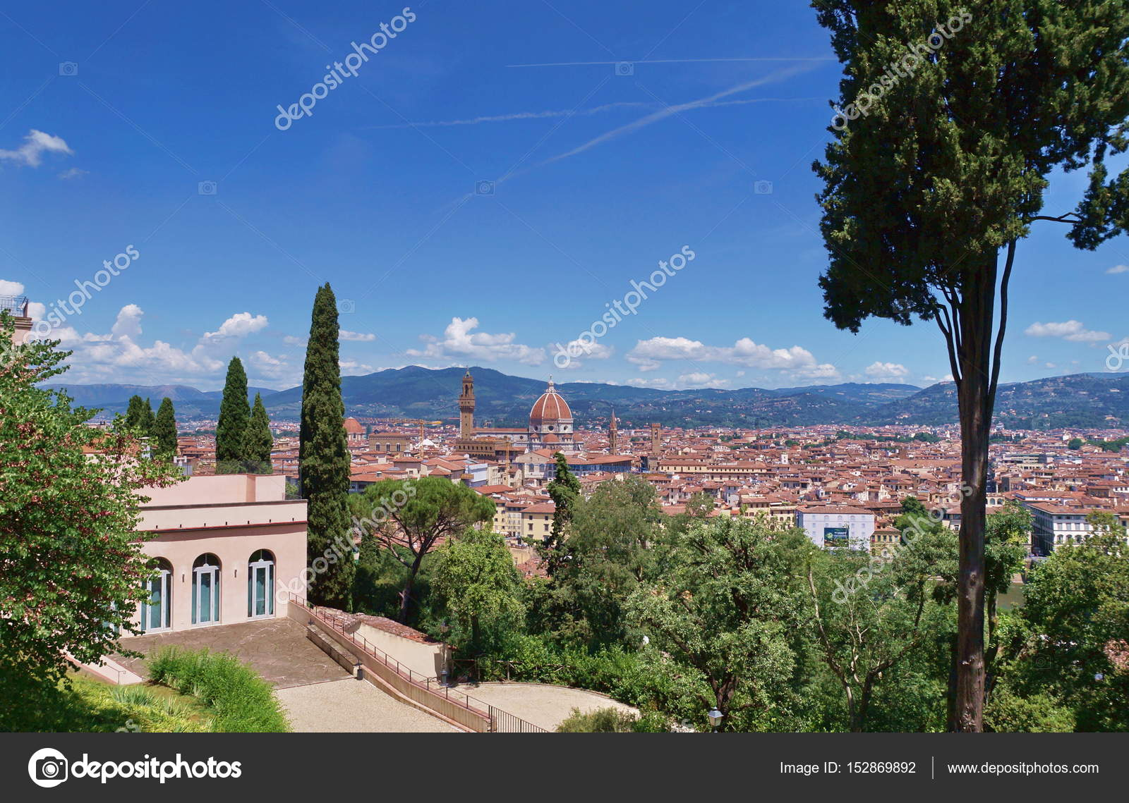 View Of Florence From Bardini Garden Stock Photo C Sansa55