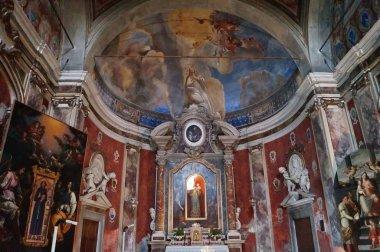Interior of Saint Francis church in Pescia, Tiscany, Italy