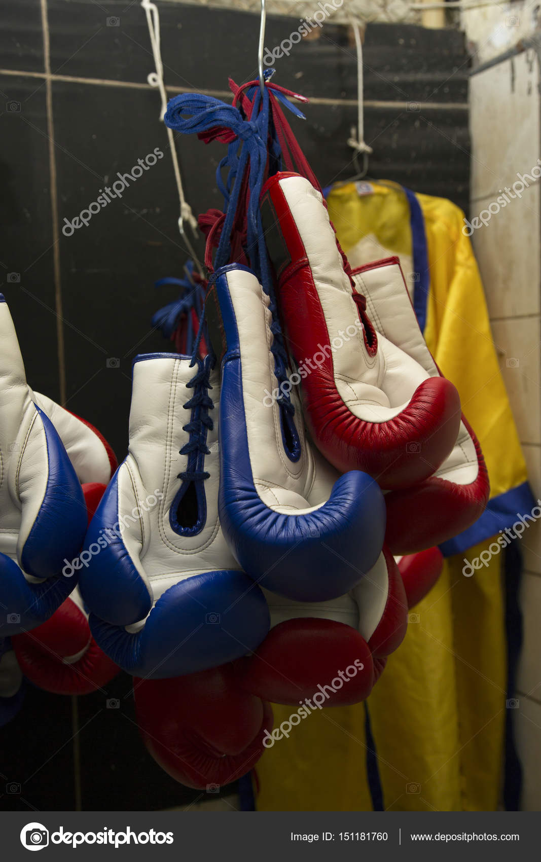 Boxing Gloves Hanging On Storage Room U2014 Photo By Kittimages