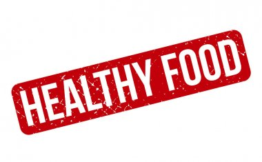 Healthy Food Rubber Stamp. Red Healthy Food Rubber Grunge Stamp Seal Vector Illustration - Vector