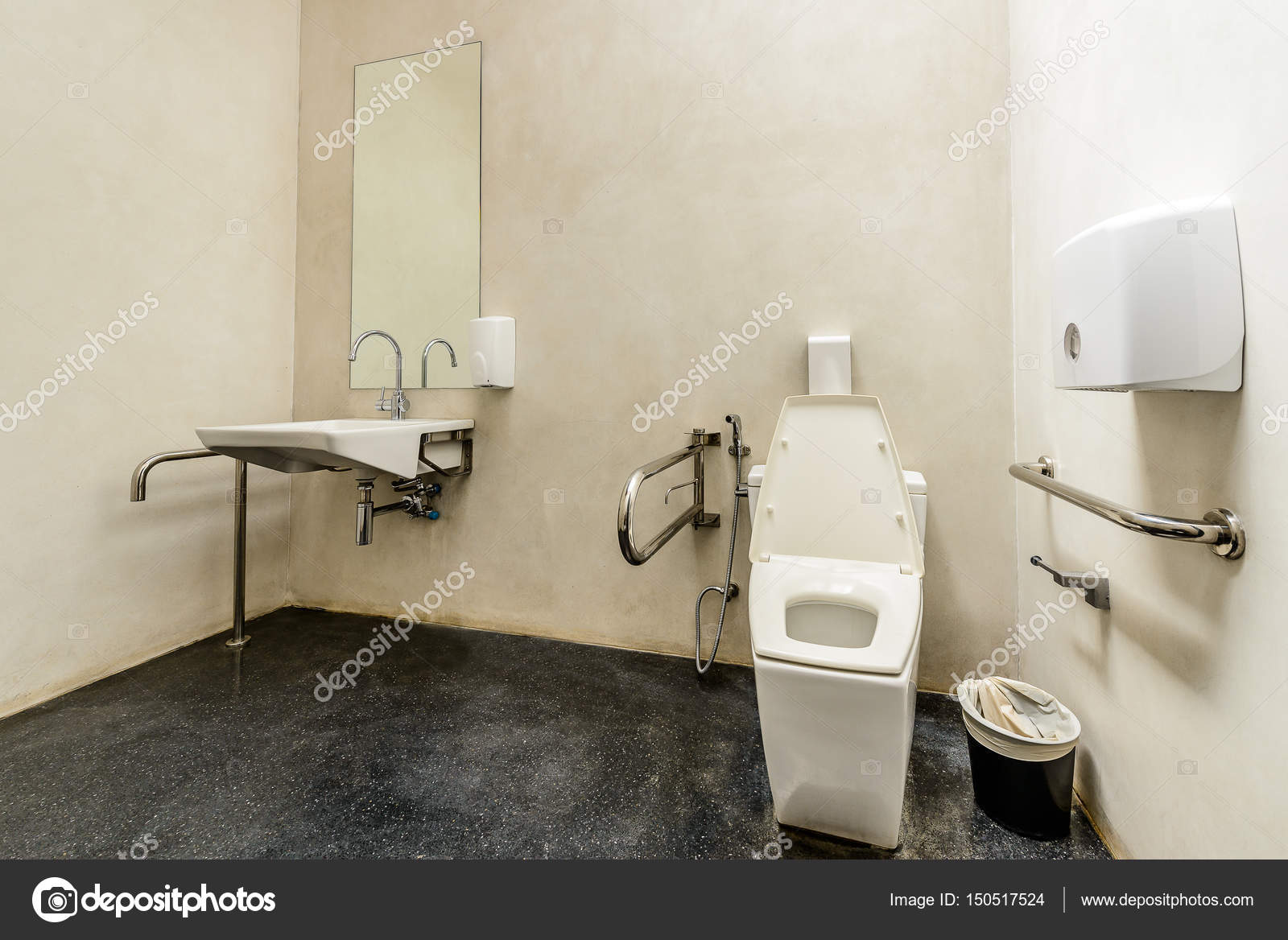 Toilet with friendly design for people with disability — Stock Photo ...