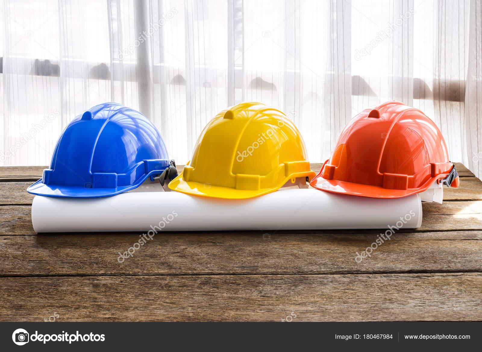 Chapeau Construction Casque Securite Dur Orange Jaune Bleu Pour