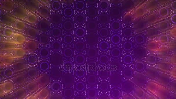 Tmavě fialové kruhy vzor. Moderní vykreslení hladké animace pozadí abstraktní s animací vlna mozaika kruhů. Technologické, technické zázemí