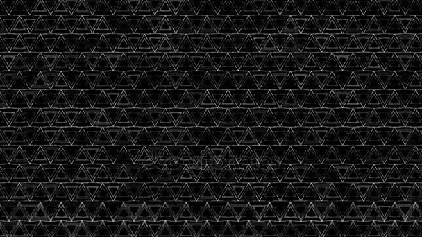 Sötét, fekete és fehér háromszög mintát. Modern render sima animáció animáció hullám mozaik háromszögek absztrakt háttér. Műszaki, technológiai háttér