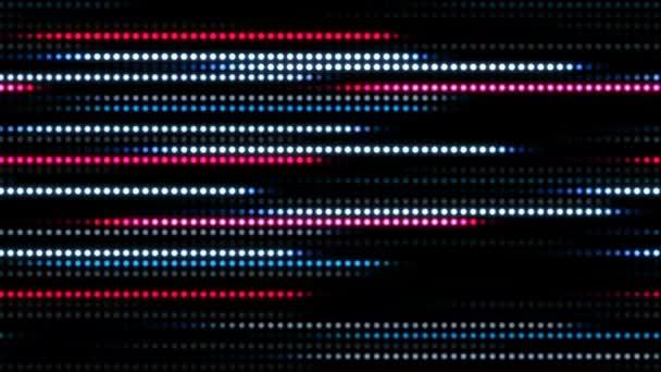 Abstraktní pozadí technologie s animace slow motion světelné pruhy tečka kružnice modré růžové a animace přenos údajů nebo počítači datové soubory. Animace z bezešvé smyčka