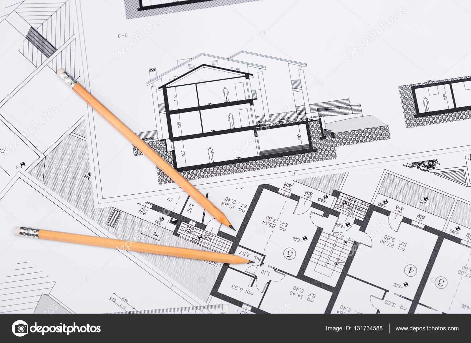 Planos de construcci n con herramientas de dibujo de for Planos de construccion