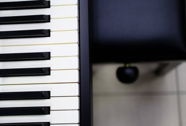 Closeup shot of the keys of a piano - creating the art concept