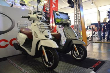 Kymco motorcycles at Philippine Moto Heritage Weekend