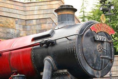 OSAKA, JP - APRIL 7 - Harry Potter theme Hogwarts express train at Universal Studios Japan on April 7, 2017 in Osaka, Japan.