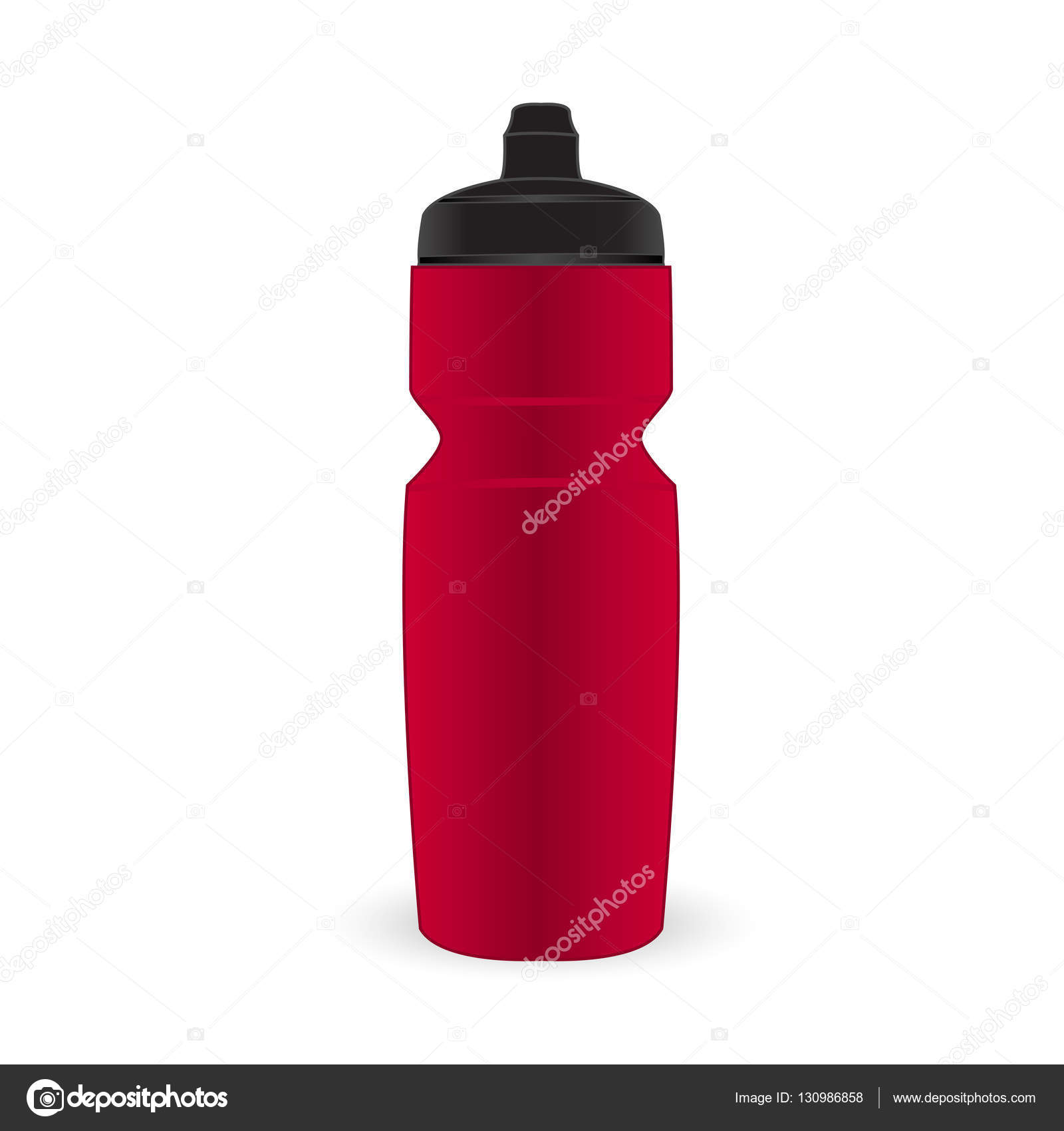 Hot pink color sport bottle isolated vector on the white ...