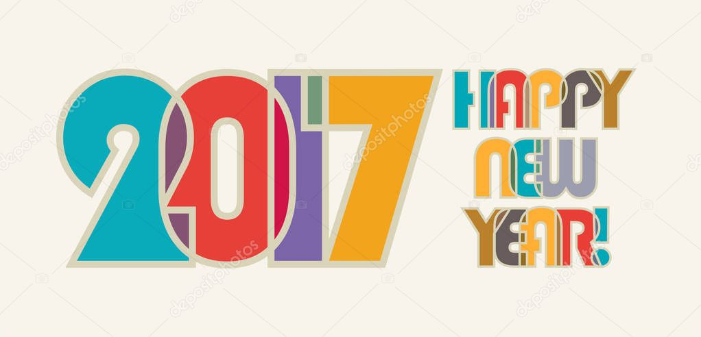 new year banner template stock vector