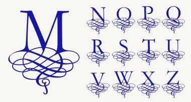 Calligraphic capital letters