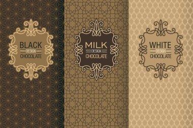 Elegant set of design labels