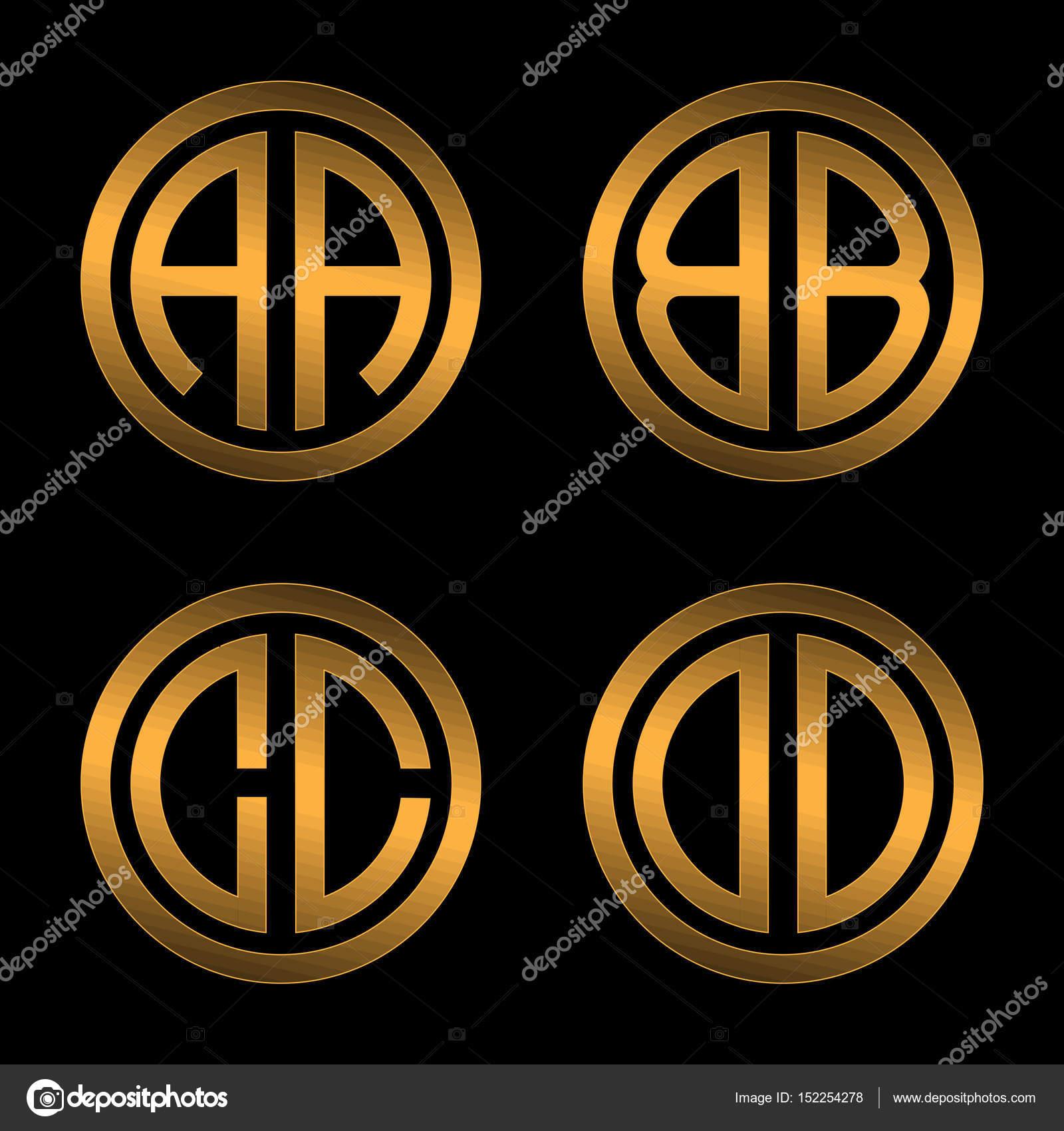 plantillas de Letras de oro capital dos — Vector de stock © PGMart ...