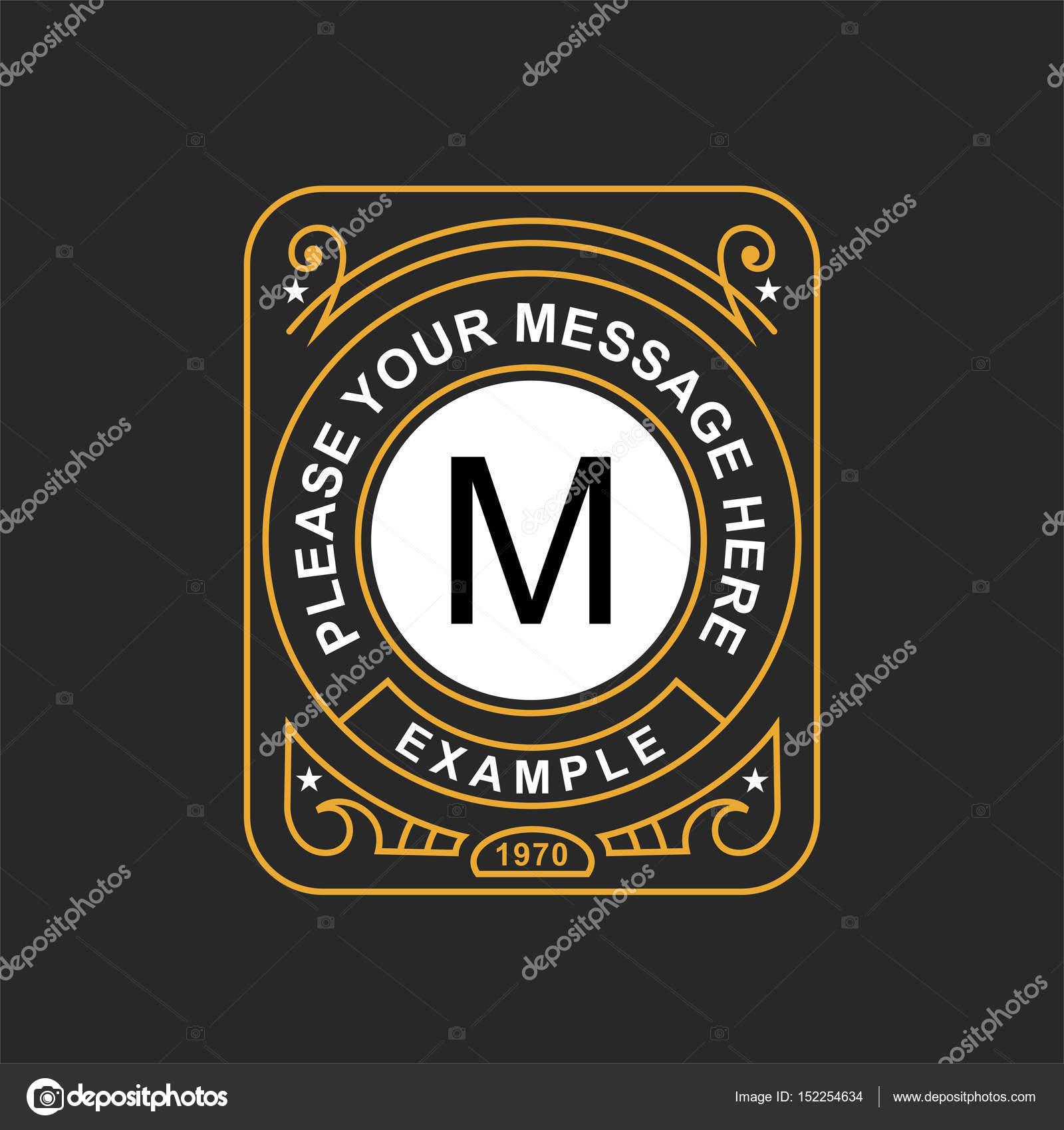 Moderne Emblem, Abzeichen, Monogramm Vorlage — Stockvektor © PGMart ...