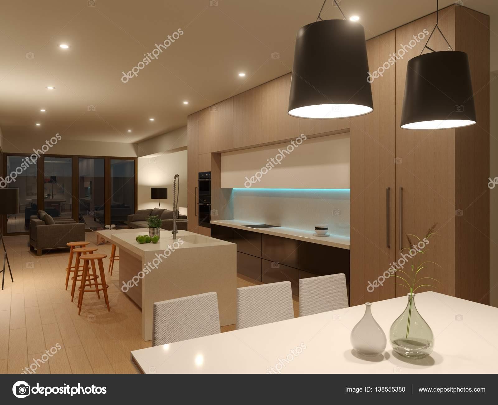 3D Gehäuse Interieur in warmen Tönen — Stockfoto © sanchopancho00 ...