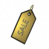 Značka prodeje zlata na bílém pozadí