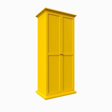 3d render of isolated cabinet on a white background.
