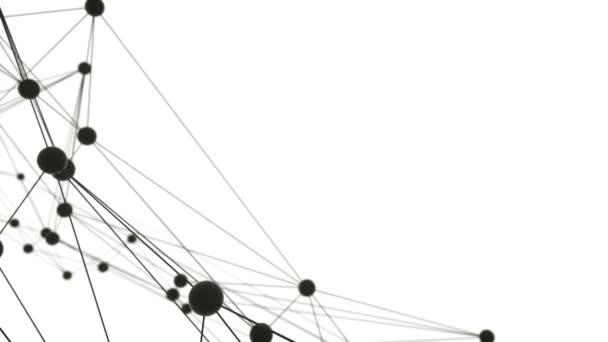 Dynamická síťovina, atomy. 3D vizualizace