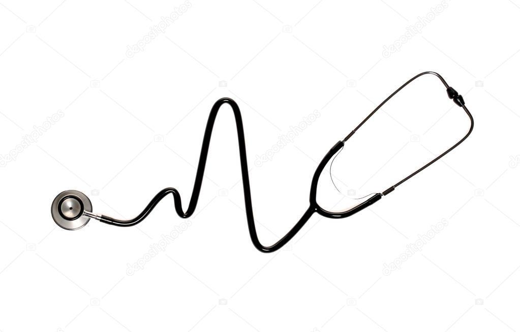 Estetoscopio Formando Corazón Batir