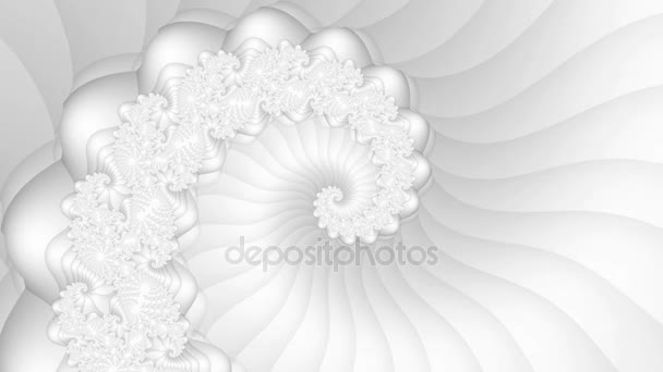White fractal spiral seamless loop background