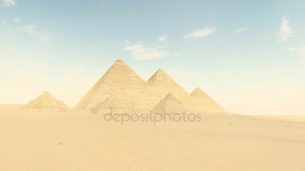 Velké pyramidy v Gíze údolí ve dne 4k