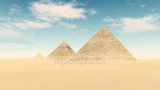 Egypt desert Great Pyramids of Giza timelapse 4K