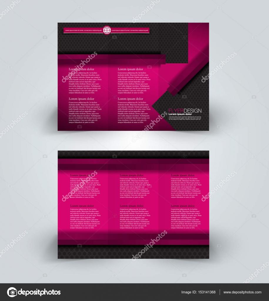 Broschüre Design-Vorlage für Business Education Werbung. Trifold ...