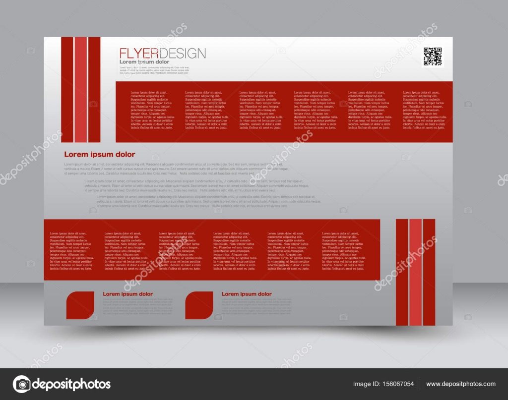 magazine cover template with design landscape orientation — Stock ...