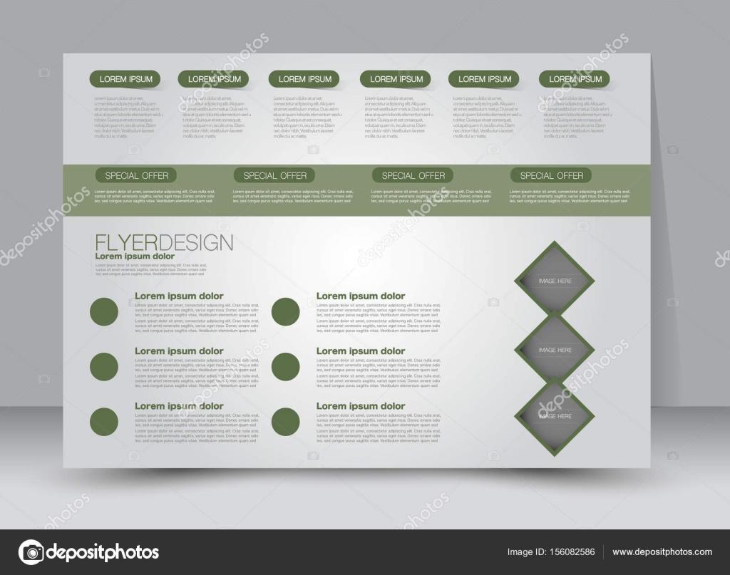 Flyer Broschüre Plakat Vorlage Design Querformat Stockvektor