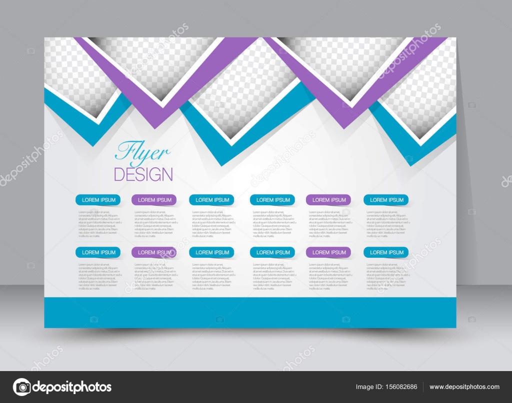 Flyer, folleto, cartel plantilla diseño paisaje orientación — Vector ...
