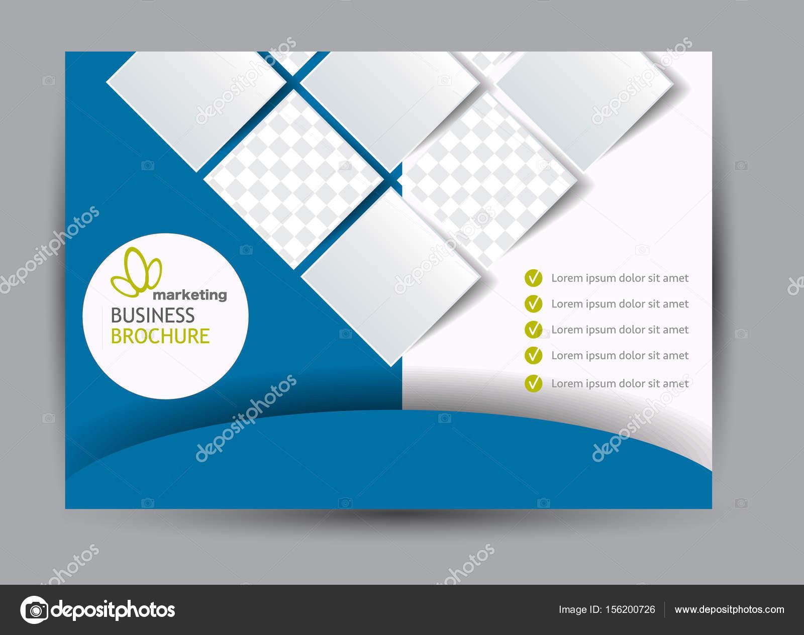cartelera plantilla diseño paisaje orientación — Vector de stock ...