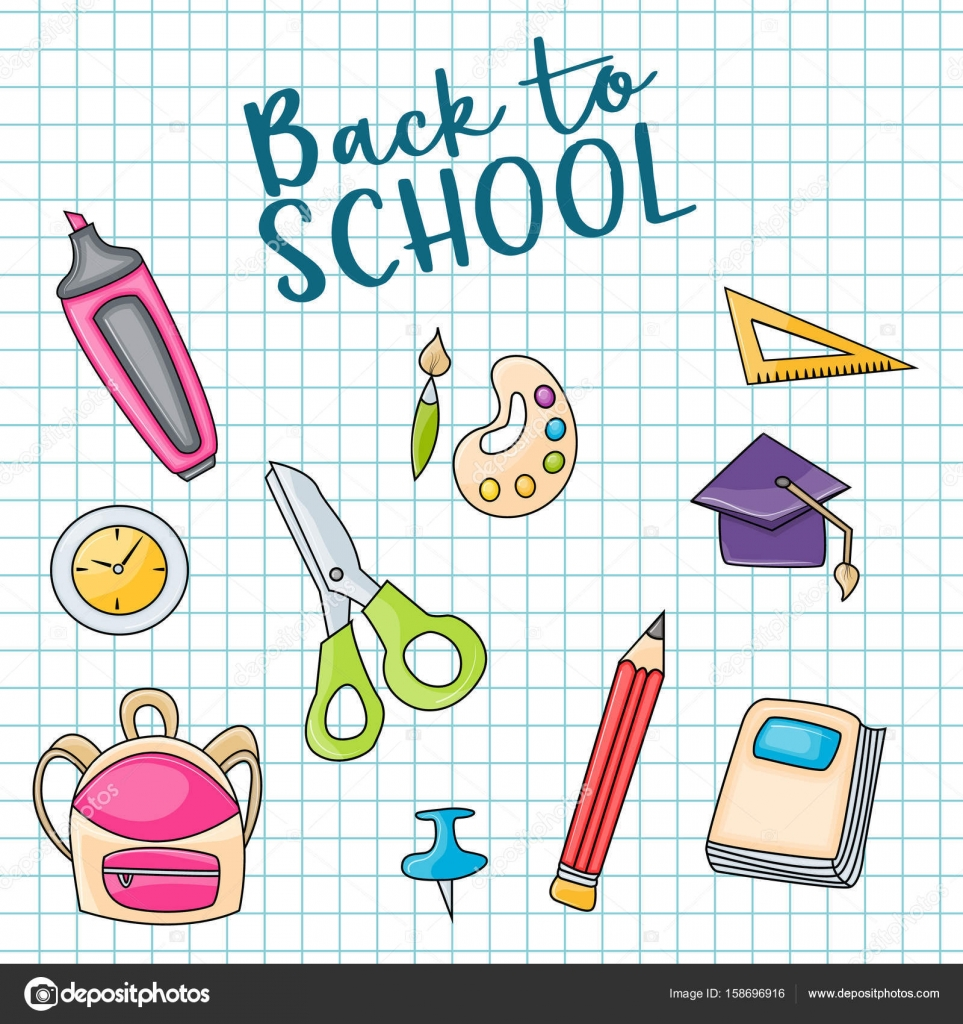 Back to school doodle clip art greeting card stock vector back to school doodle clip art greeting card stock vector m4hsunfo
