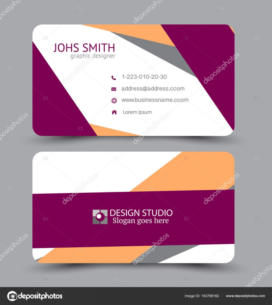 Business card design set template for company corporate style ...