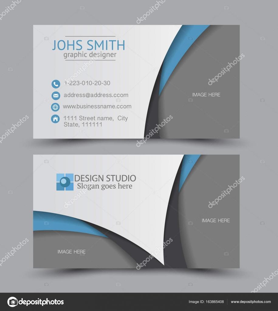 Visitenkarten Design Set Vorlage Für Den Unternehmensstil