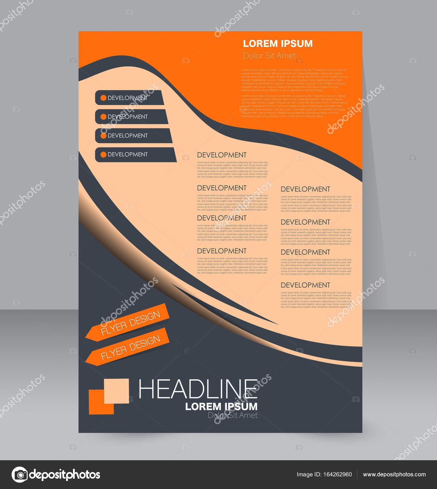 Flyer Design-Hintergrund. Broschüre-Vorlage — Stockvektor © Milana88 ...